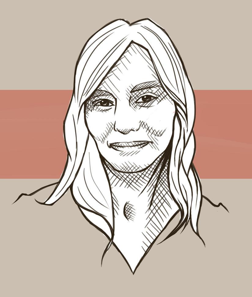 Crosshatch Self Portrait by JessicaKDesign