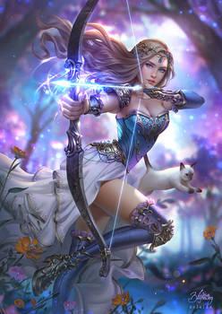 Archeress by Zolaida