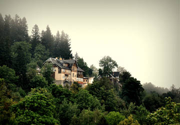 a house in the mountains by Moophlon