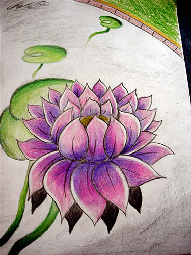 Lotus Flower Drawing By E Jeezy On Deviantart