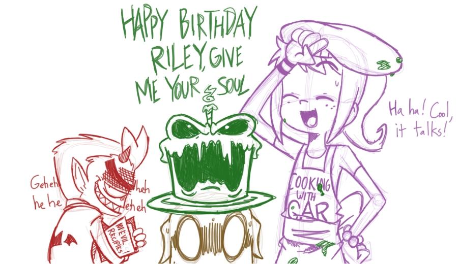 Tumblr Shenanigans 2: HAPPY BIRTHDAY RILEY by BinaryHavok ...