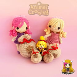 Animal Crossing bag of bells, amigurumi