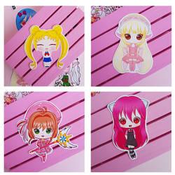 Stickers Sailor Moon, Elfen Lied, Chobits, Sakura