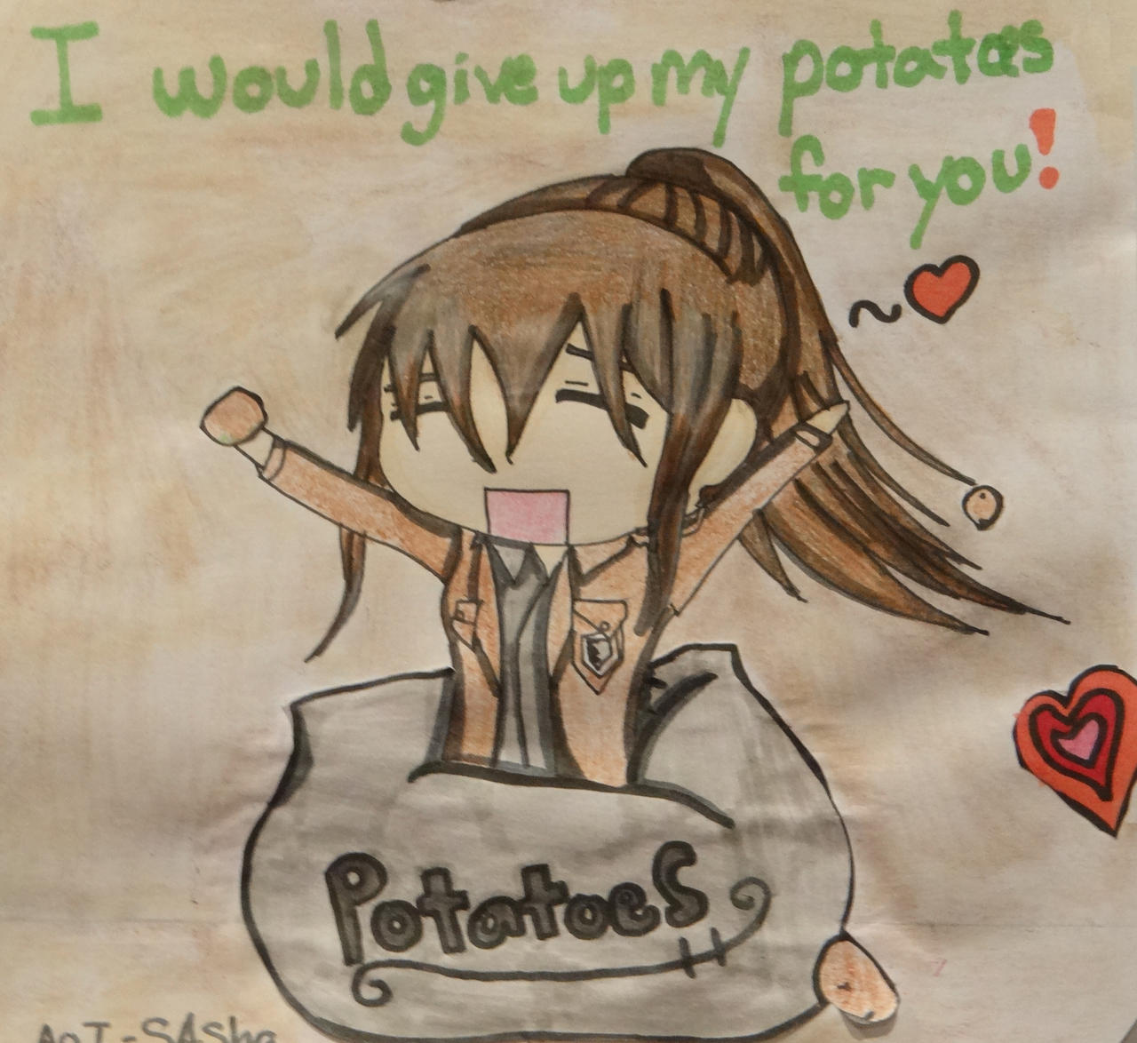 I would give up my potatoes for you by midnightpb
