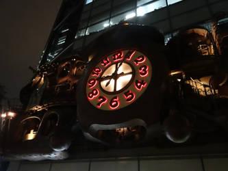 NI-TELE Really BIG clock in Shidome Tokyo by midnightpb