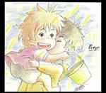 Ponyo Hayao Miyazaki by sara