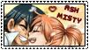 Ash Misty fan stamp by sara by Sara-Sakurahime