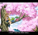 PINK WORLD X3  by sara