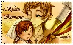 Spain Romano fans STAMP by sara by Sara-Sakurahime