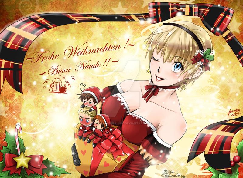 Anime Weihnachten Bilder.Frohe Weihnachten Buon Natale By Sara By Sara Sakurahime On Deviantart