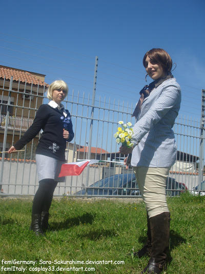 Nyotalia fem!Italy and fem!Germany