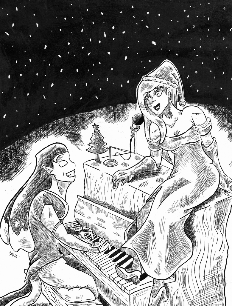 Caroling in the Snow by DevanMuse