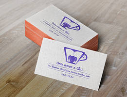 Logo Concept: Once Upon a Chai - Business Cards by AlexanderAaron
