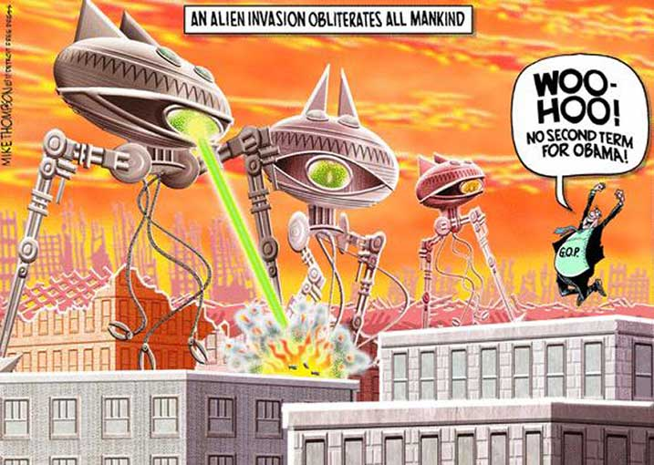 Obama Alien Invasion by Crazywulf