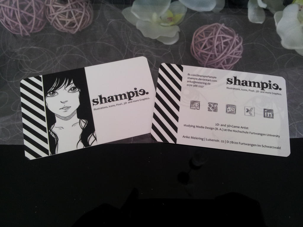 Business Card by Shampie on DeviantArt