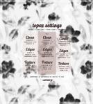 my new topaz clean atn - settings