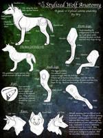 .Stylized Wolf Anatomy Guide. by desertfox04