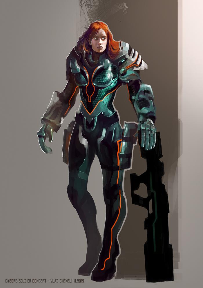 Cyborg soldier concept by vladgheneli