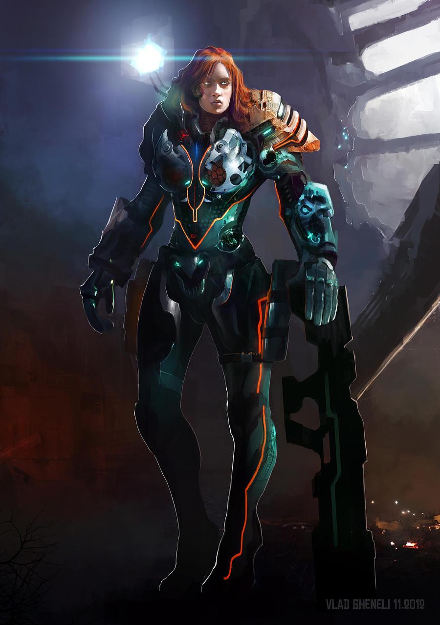 Cyborg soldier by vladgheneli