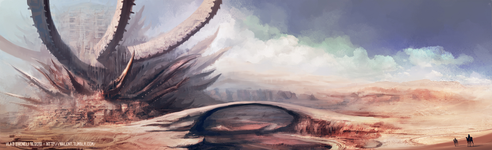 Desert Stronghold by vladgheneli