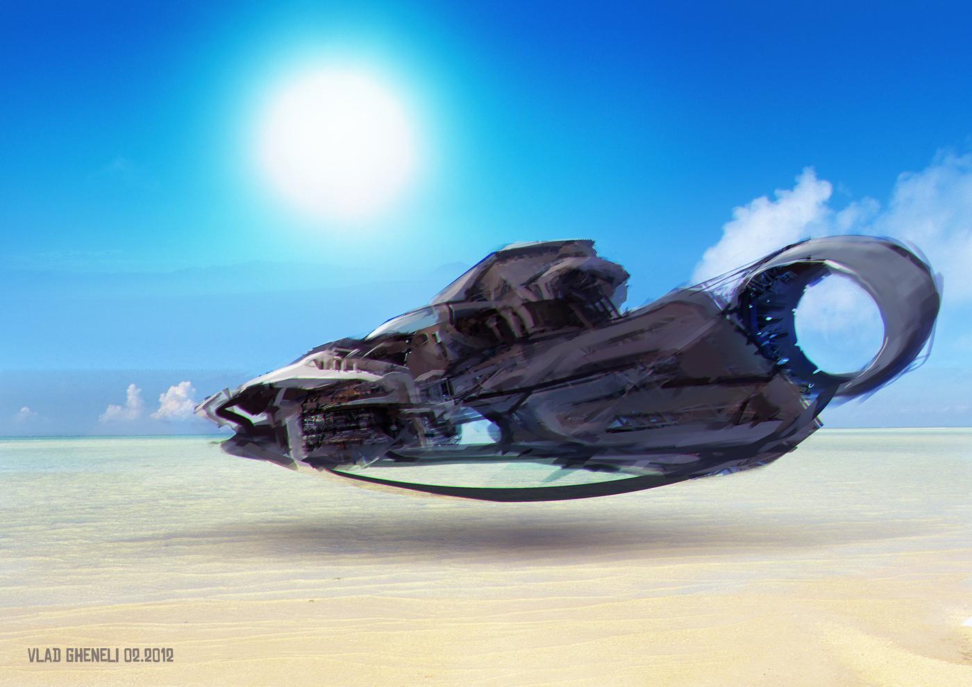 Futuristic Hovercraft by vladgheneli