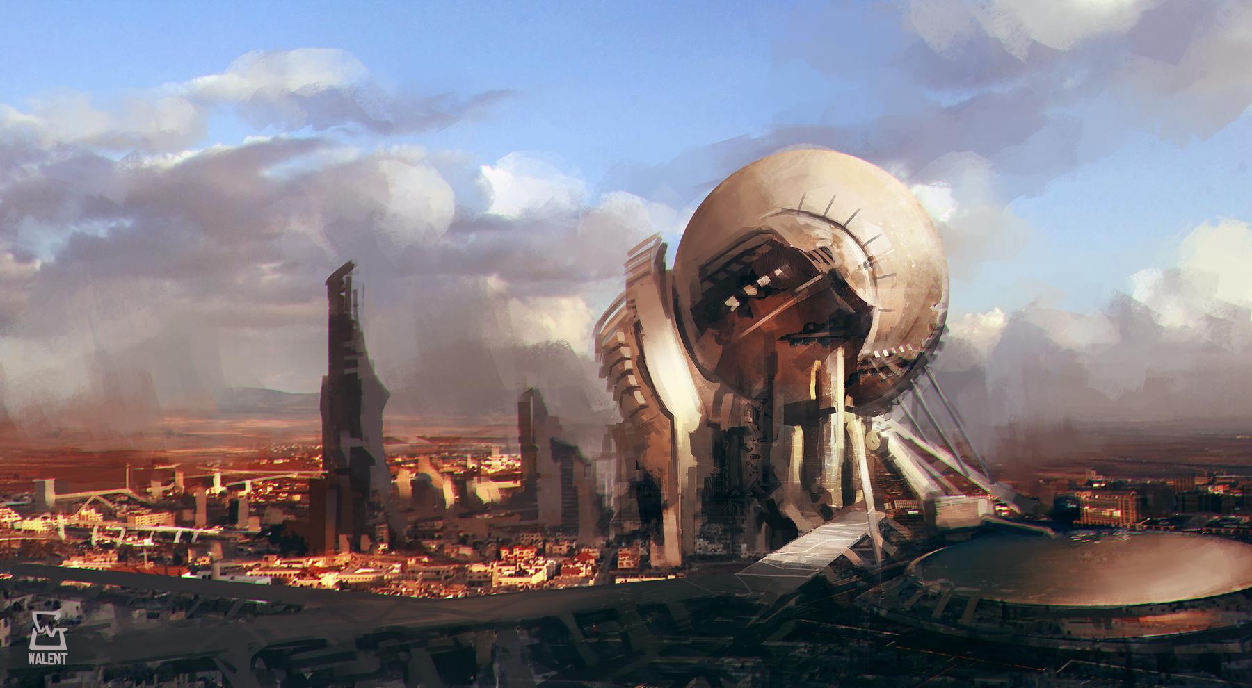 Futuristic City by vladgheneli