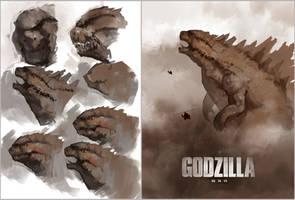 Godzilla Fanart by vladgheneli