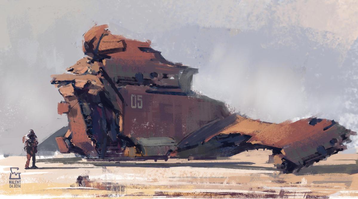 Sci-fi Ship by vladgheneli
