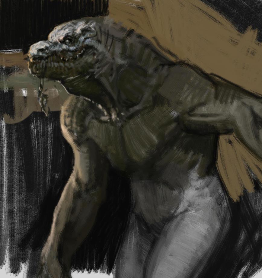 Croc Man Sketch by vladgheneli