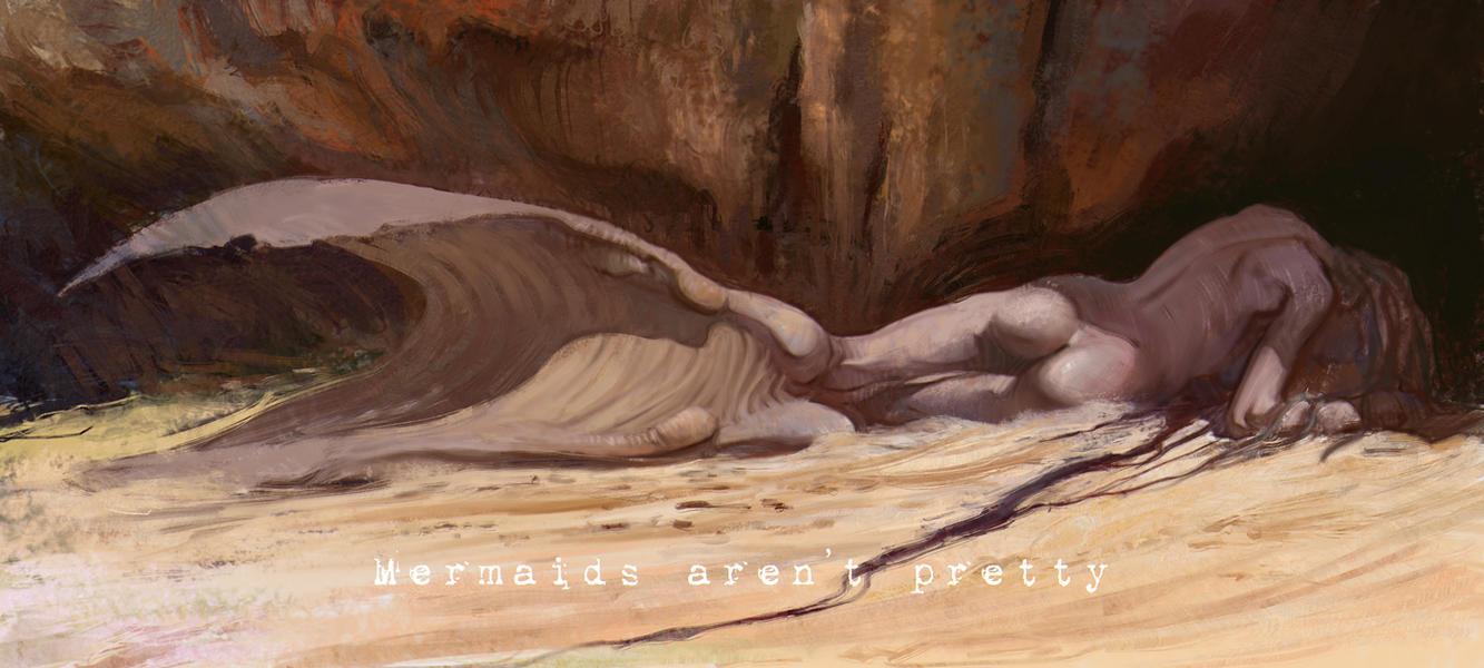 Albino mermaid by vladgheneli