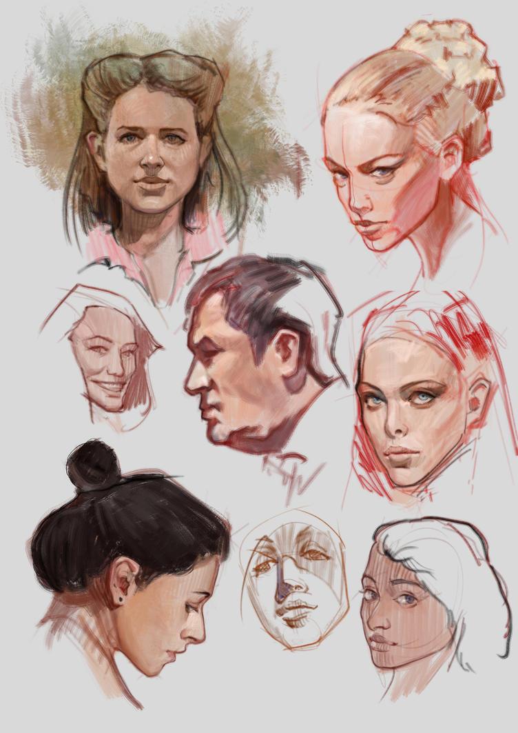 Portrait studies by vladgheneli