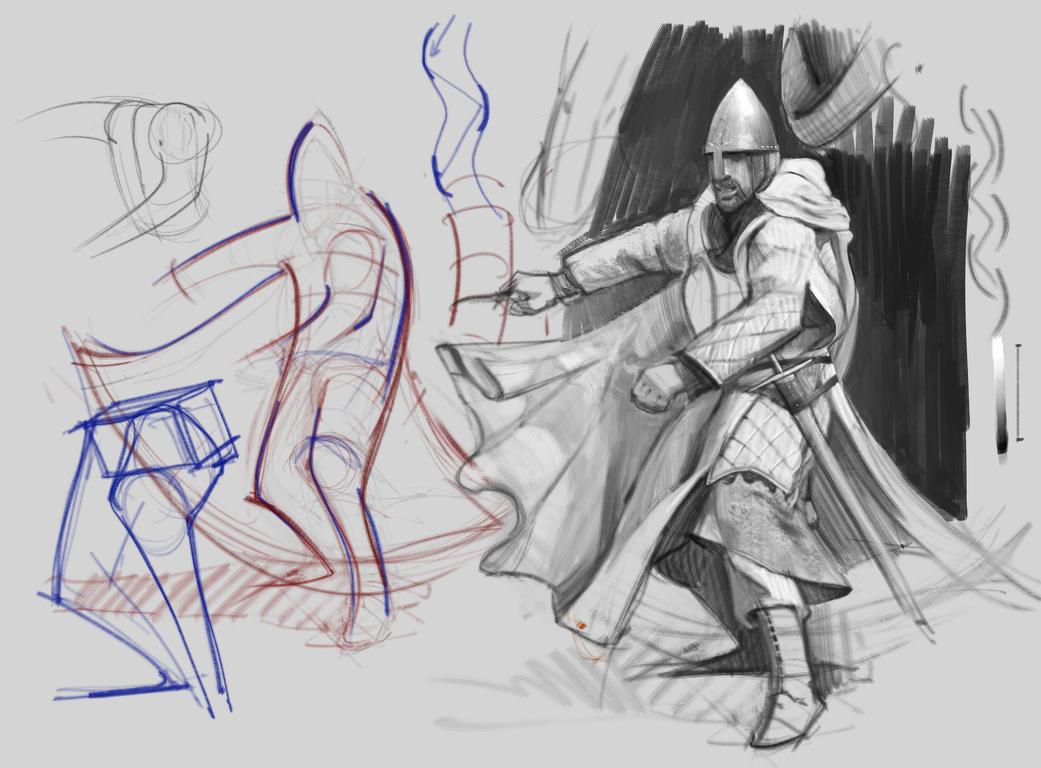 Knight study by vladgheneli
