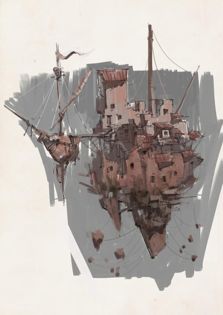 CliffShip sketch by vladgheneli
