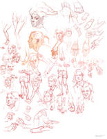 Various sketches Oct22nd by vladgheneli