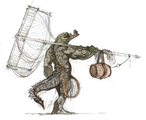 Anthro gharial sketch