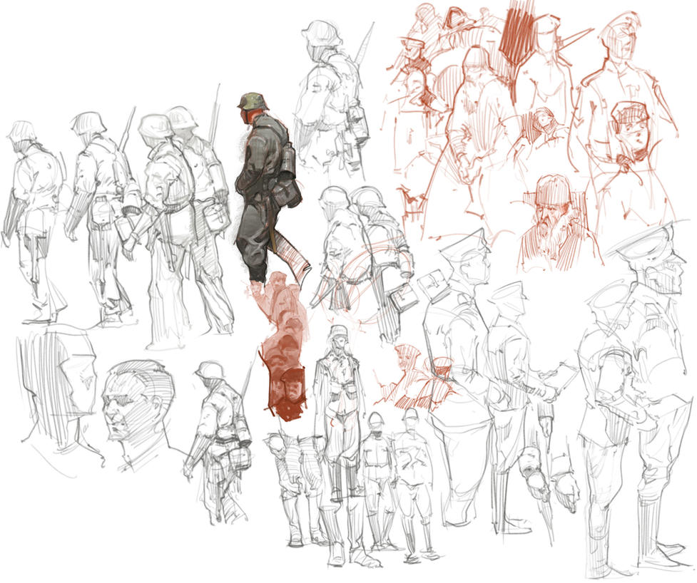 Sketches Dec25th by vladgheneli