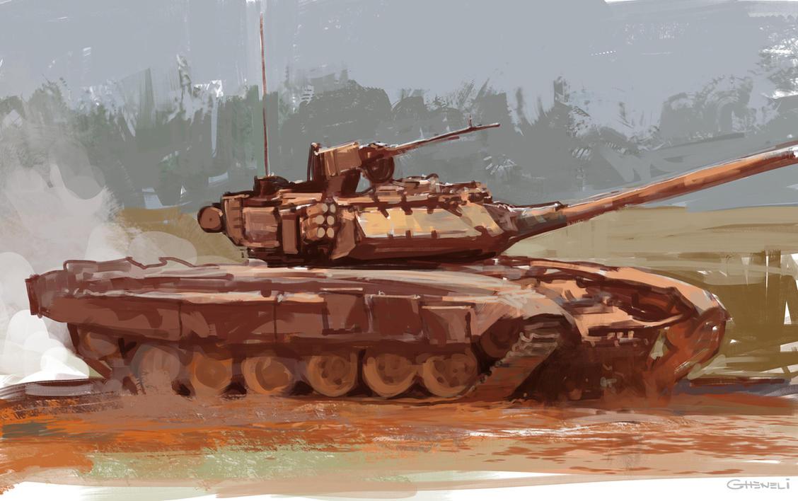 T90 practice sketch by vladgheneli