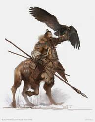 Bactrian centaur hunter by vladgheneli