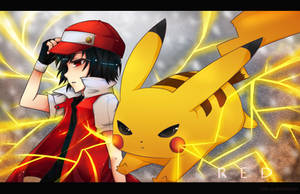 Pokemon - Red by ink-cap