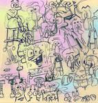 SpongeBob Colored Doodle