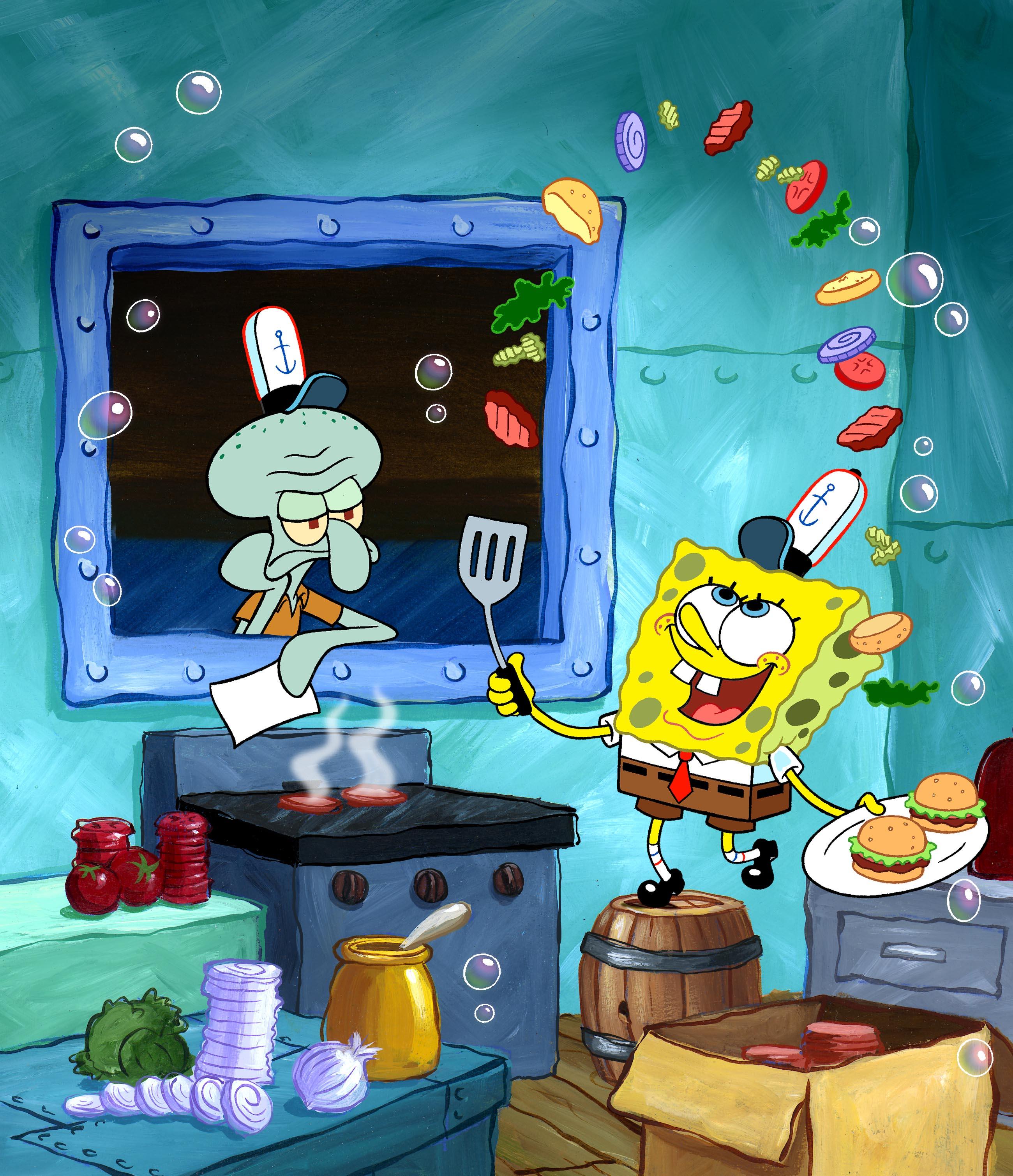 http://fc05.deviantart.net/fs51/f/2009/314/5/e/SpongeBob_Flippin_Patties_by_shermcohen.jpg