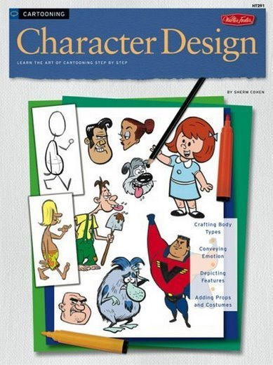 Cartooning Character Design Sherm Cohen Pdf : Cover art for my book by shermcohen on deviantart