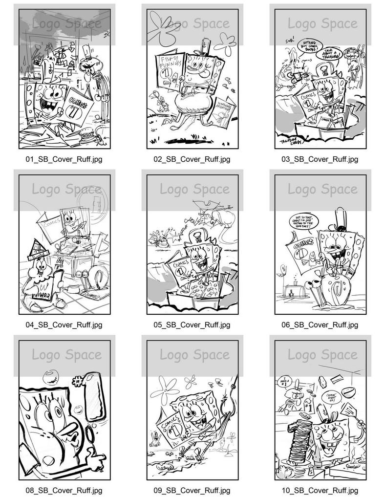 SpongeBob Cover Sketches by shermcohen