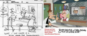 Storyboard vs. TV: Doofenshmirtz