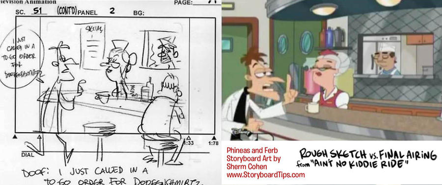 Storyboard vs. TV: Doofenshmirtz by shermcohen