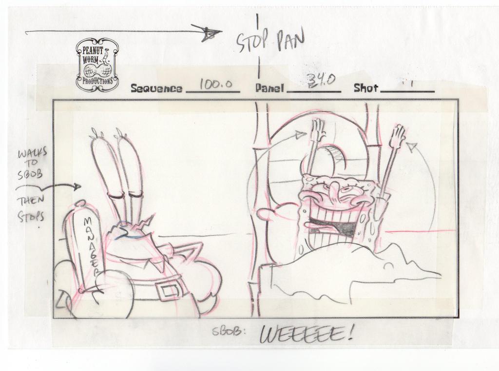SpongeBob Movie storyboard: WEEEEE!!!