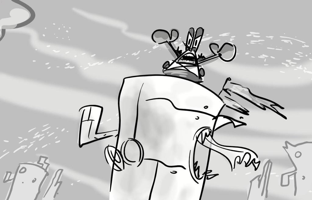 SpongeBob 2 -- Post-Apocalypse Mr Krabs