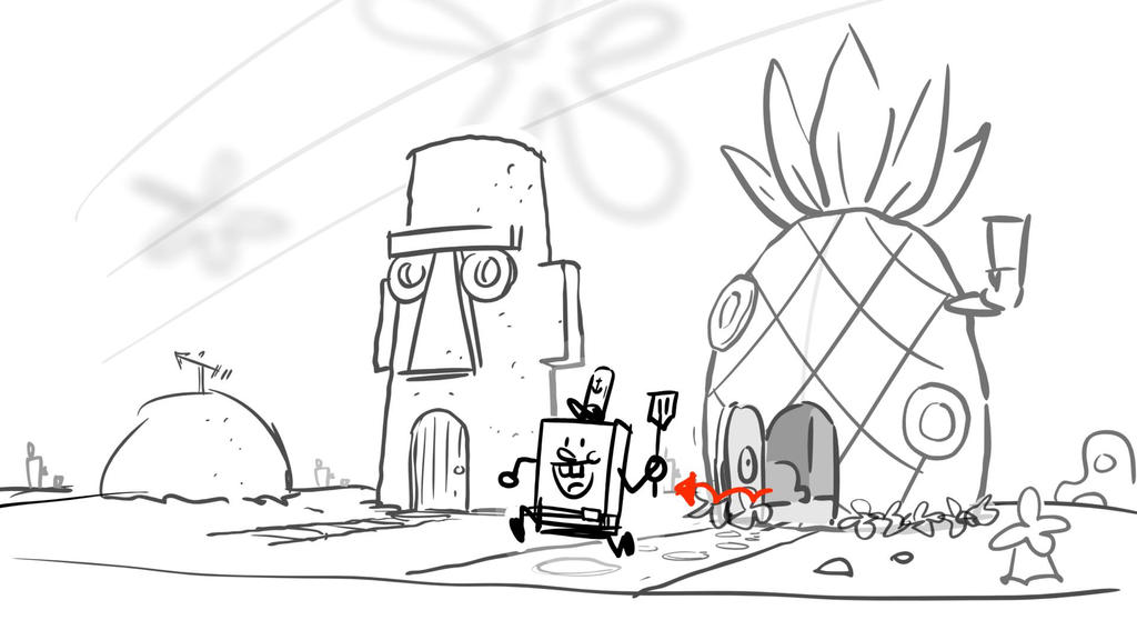SpongeBob Movie Deleted Scene: Going to work!