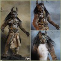 Wolf antropomorf  by olllga81