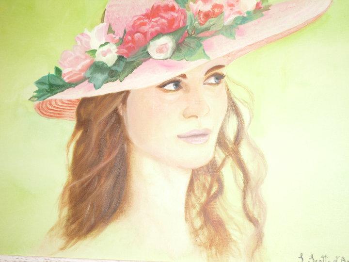 Donna con cappello di fiori by Makoto869 on DeviantArt